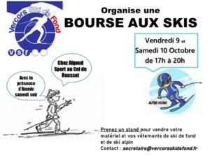 Bourse aux skis – vendredi 9 et samedi 10 octobre de 17h à 20h (col du Rousset chez Algoud Sport)